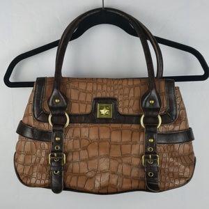 Kate Landry Light Brown Textured Shoulder Bag